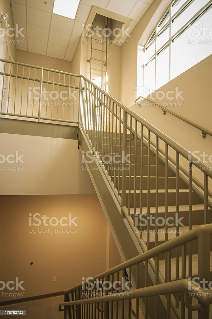 Stairwell and emergency exit in building royalty-free stock photo