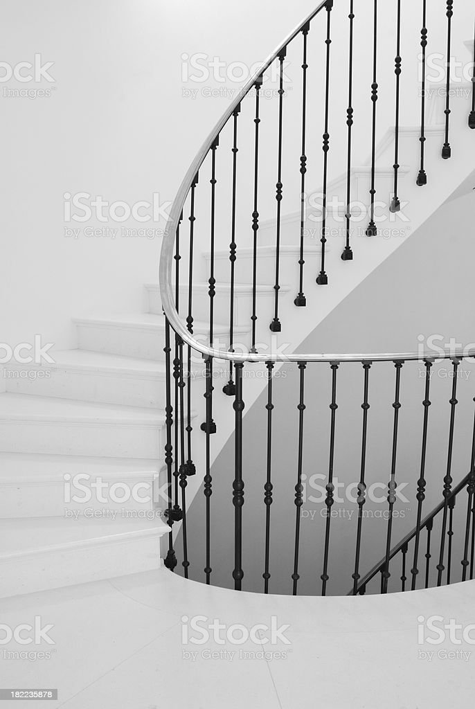 Stairwell and handrail royalty-free stock photo