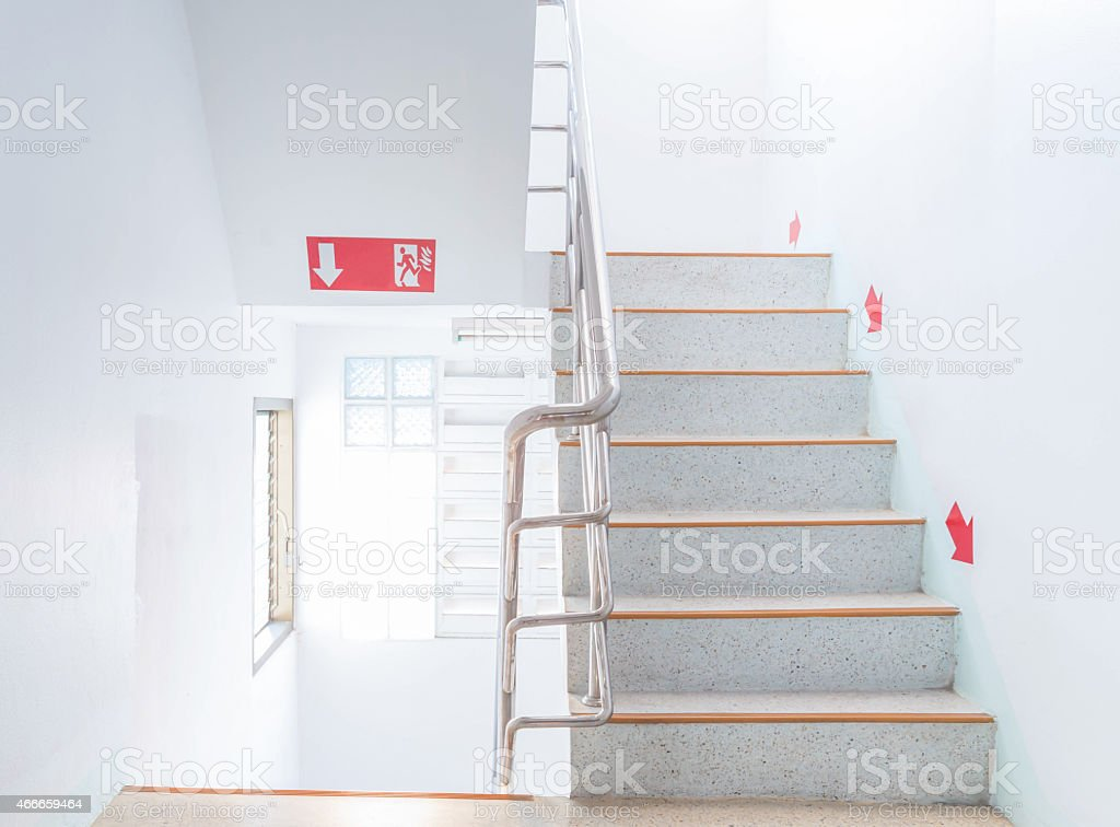 stairwell fire escape stock photo