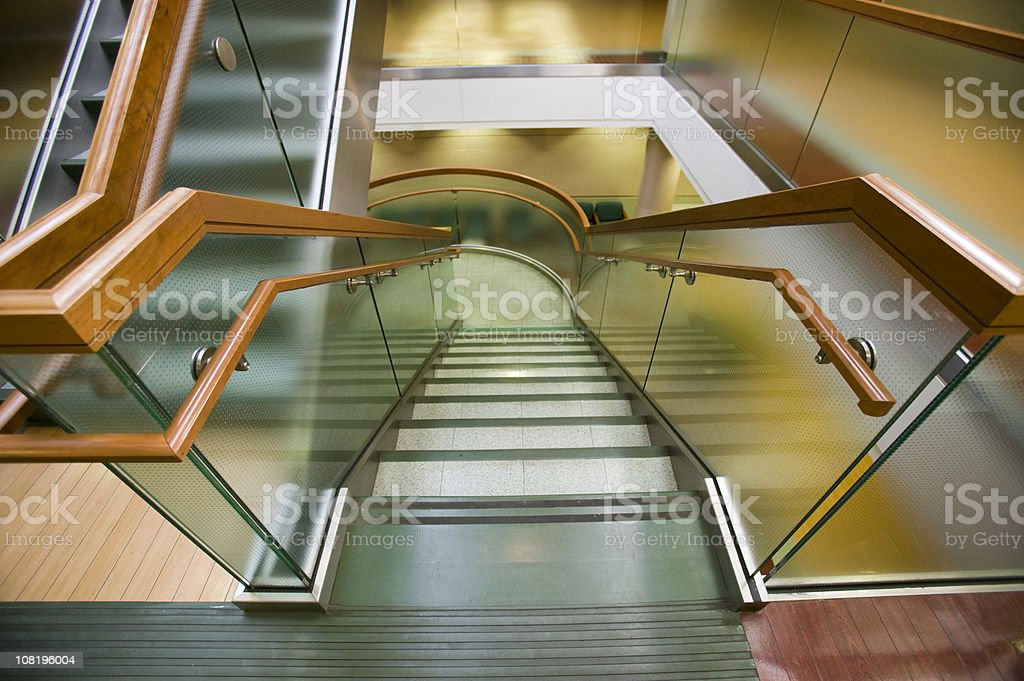 Stairwell in Commericial Building royalty-free stock photo