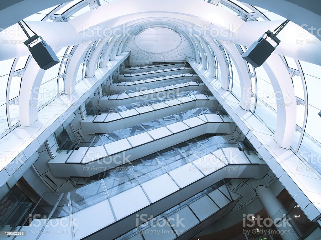 Stairwell in modern building royalty-free stock photo