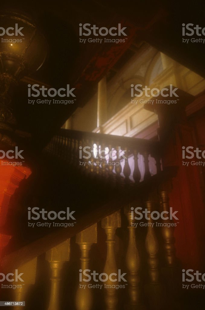 Stairwell, New Palace Theatre,Plymouth stock photo