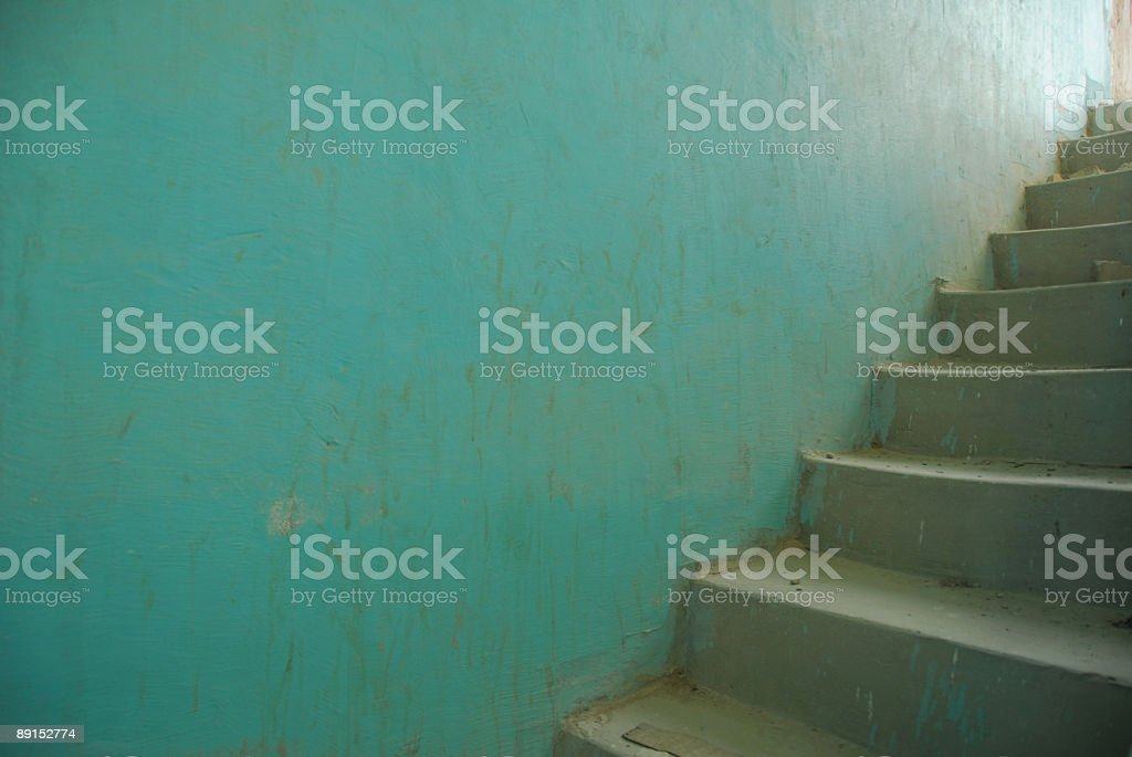 Stairwell with Cement Stairs royalty-free stock photo
