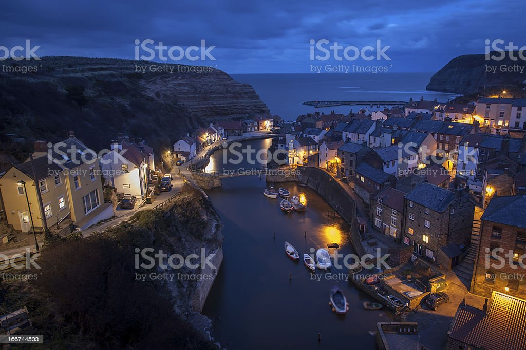 Staithes Harbour royalty-free stock photo