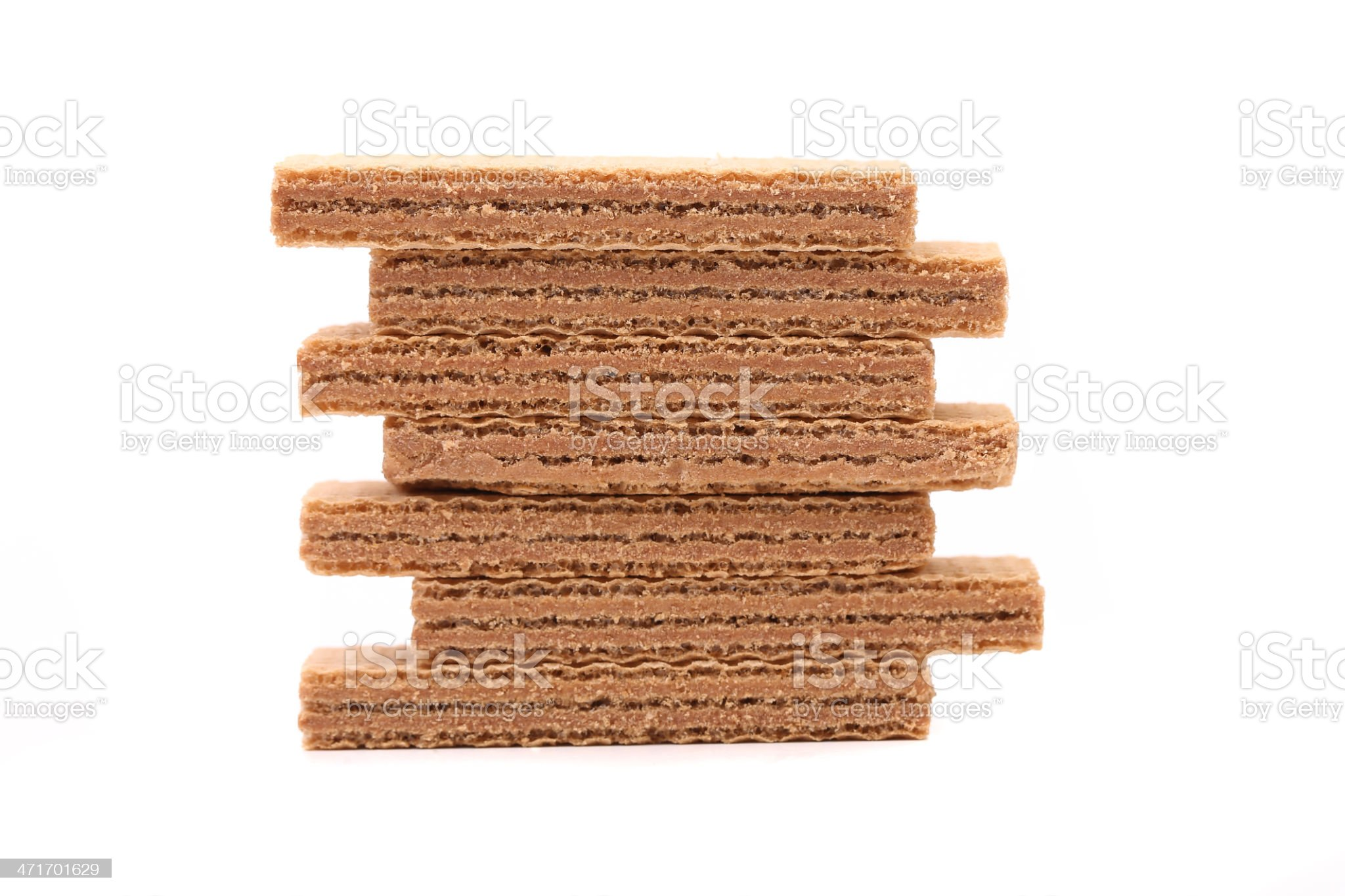 Stake of wafers with chocolate royalty-free stock photo