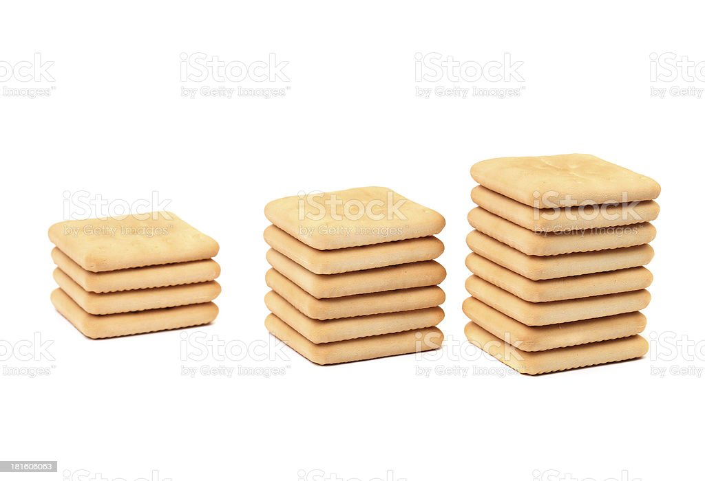 Stakes saltine soda cracker. royalty-free stock photo