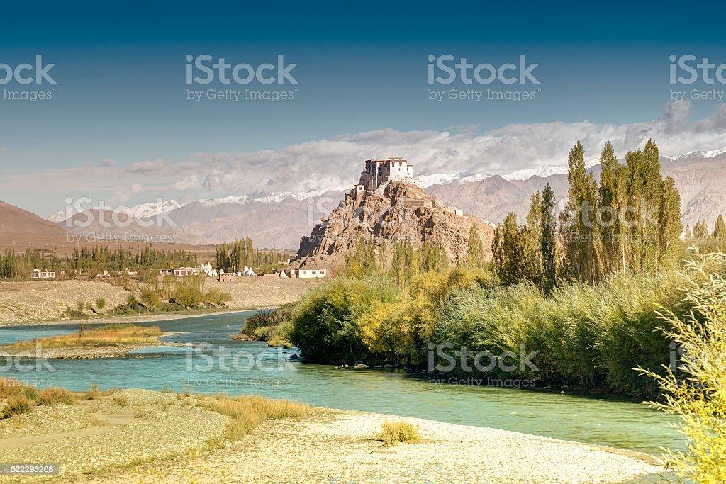 Stakna monastery, Ladakh, Jammu and Kashmir, India stock photo