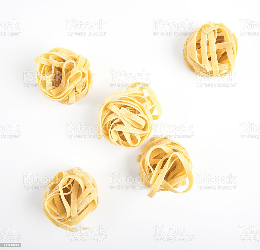 Stalian pasta, fettuccine, isolated stock photo