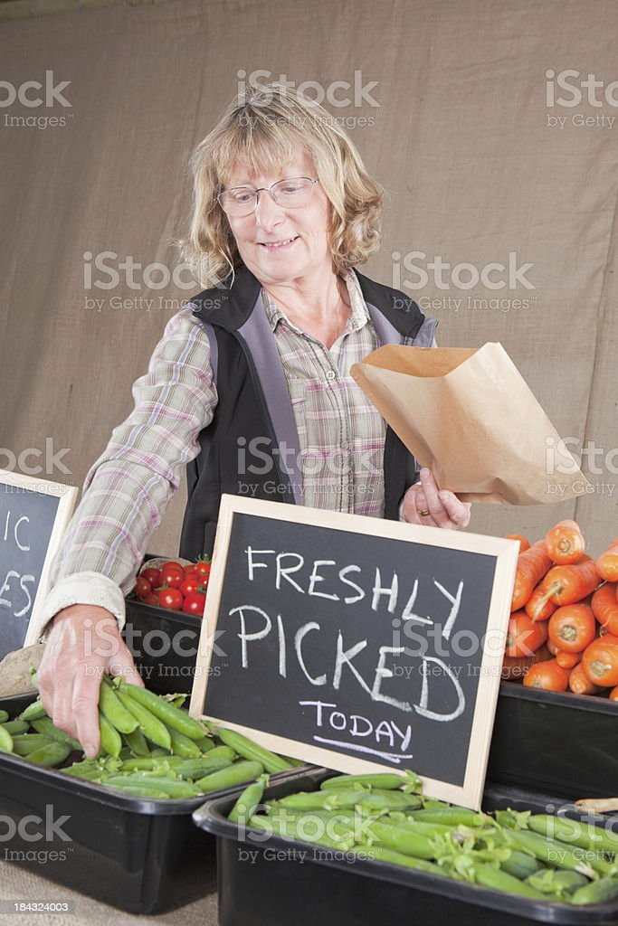 Stall At A Farmers Market stock photo