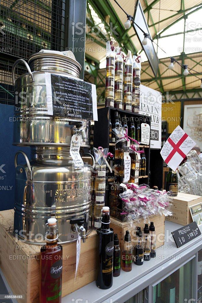 Stall Borough Market London royalty-free stock photo