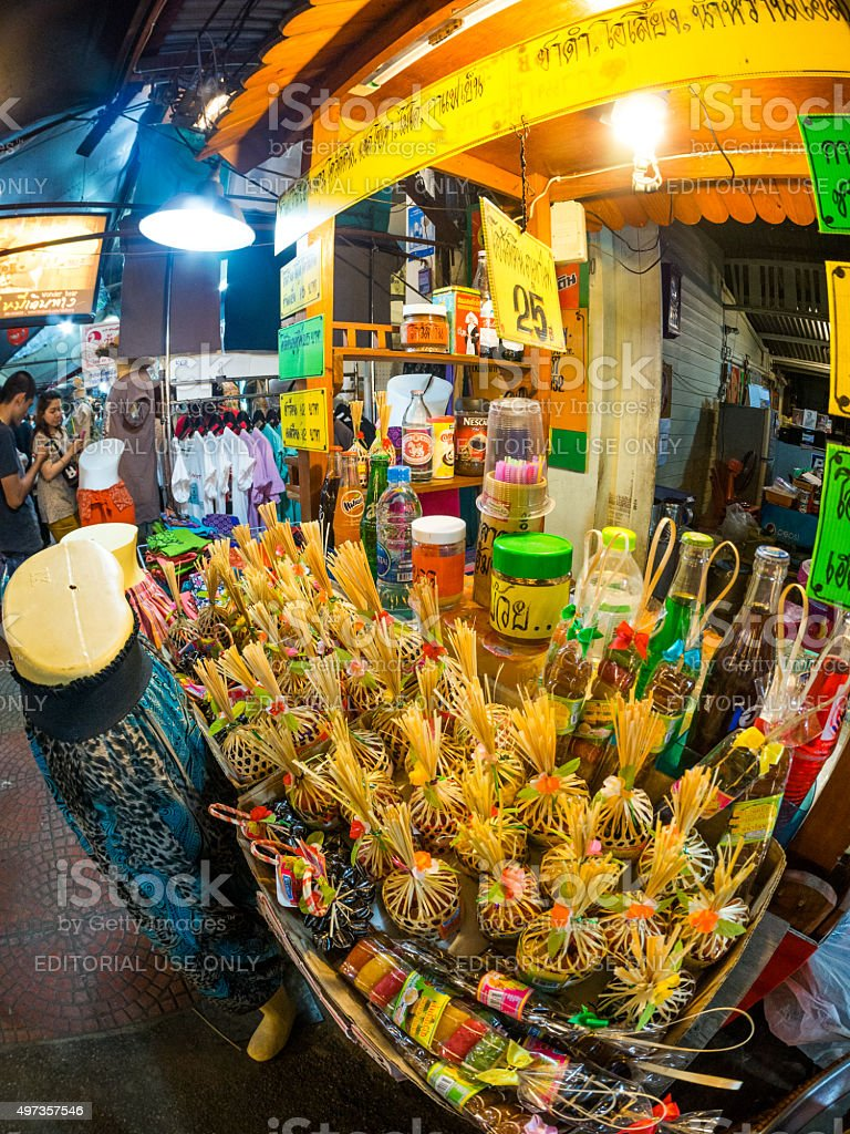 Stall in Amphawa district, Samut Songkhram, Thailand stock photo