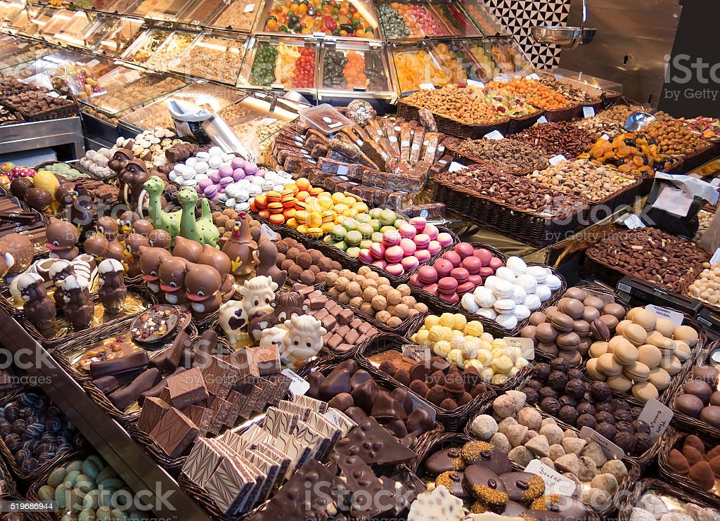 Stall of sweets stock photo