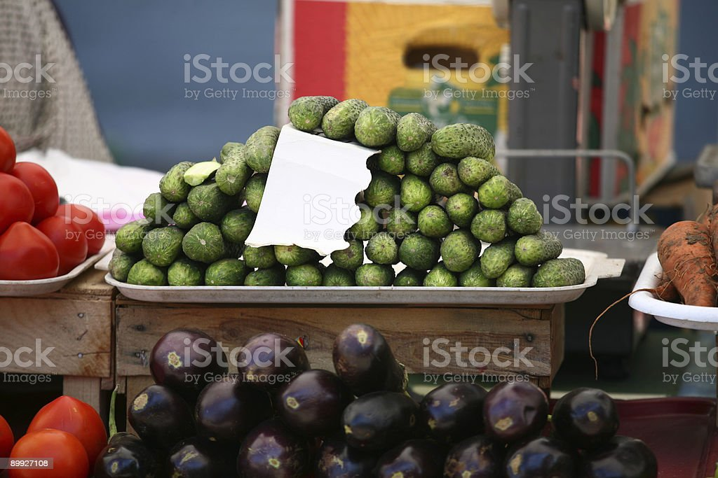 Stall with gherkins royalty-free stock photo