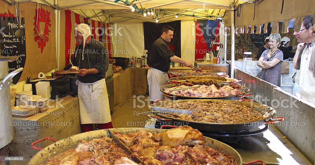 stall with various meat snaks stock photo