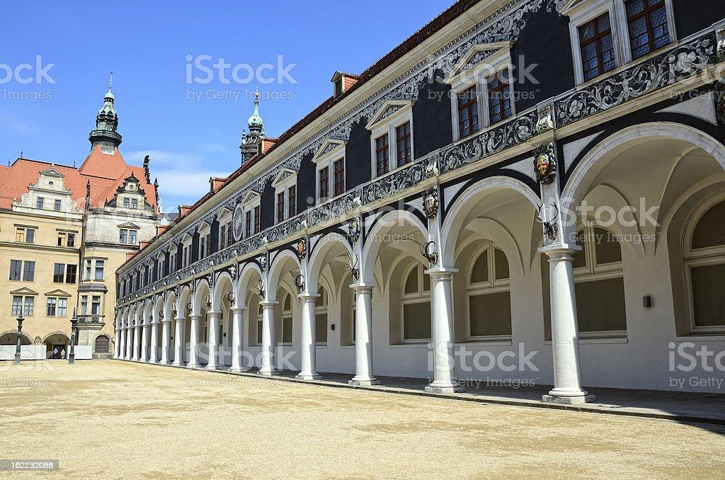 Stallhof in Dresden stock photo