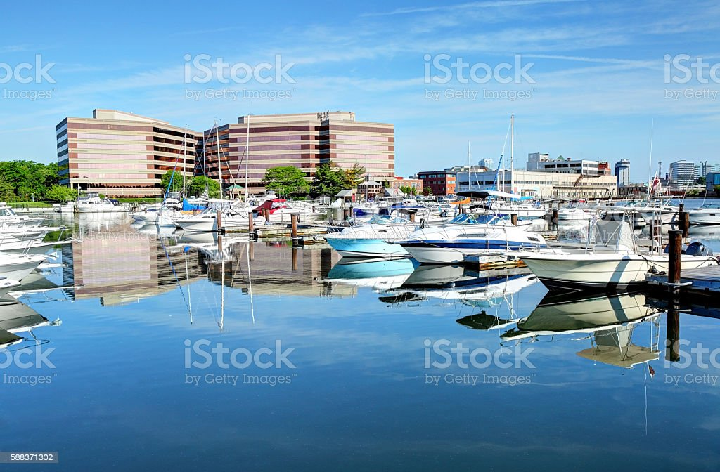 Stamford Connecticut Harbor stock photo