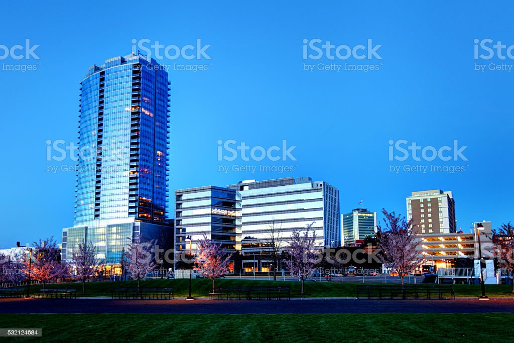 Stamford, Connecticut Skyline stock photo