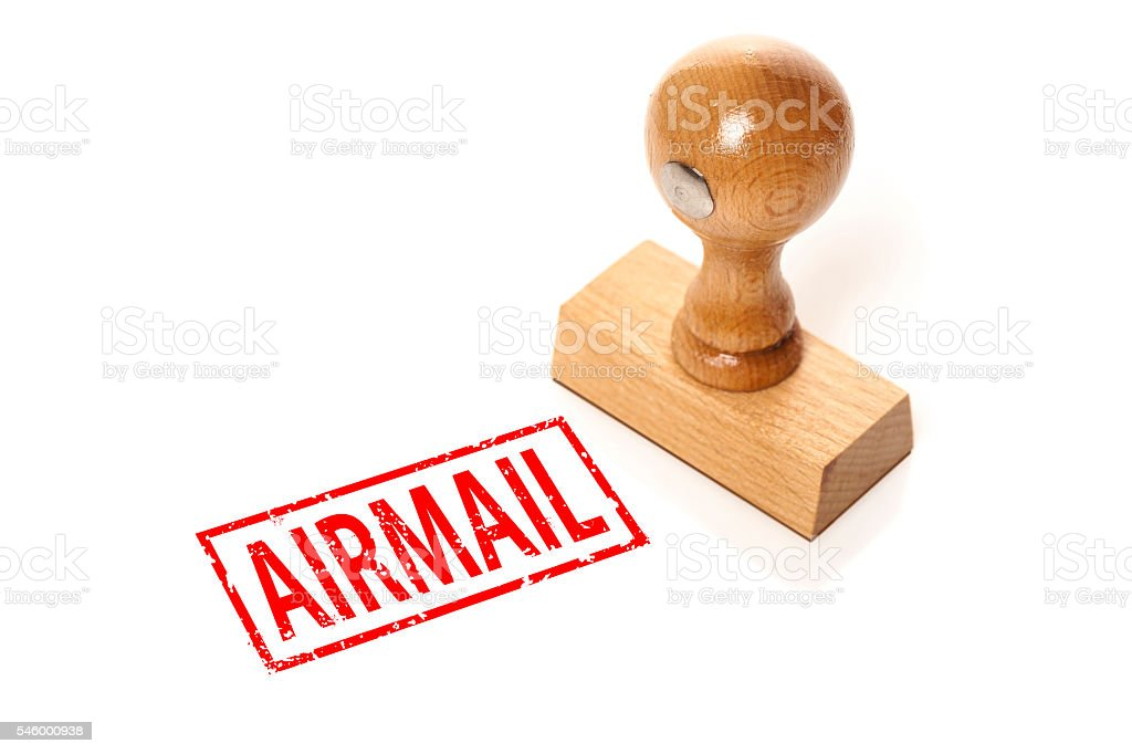 stamp 'Airmail' stock photo