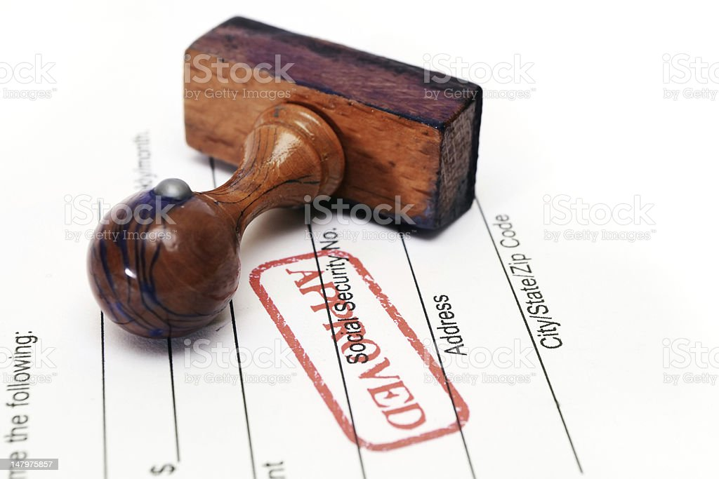 Stamp approved royalty-free stock photo
