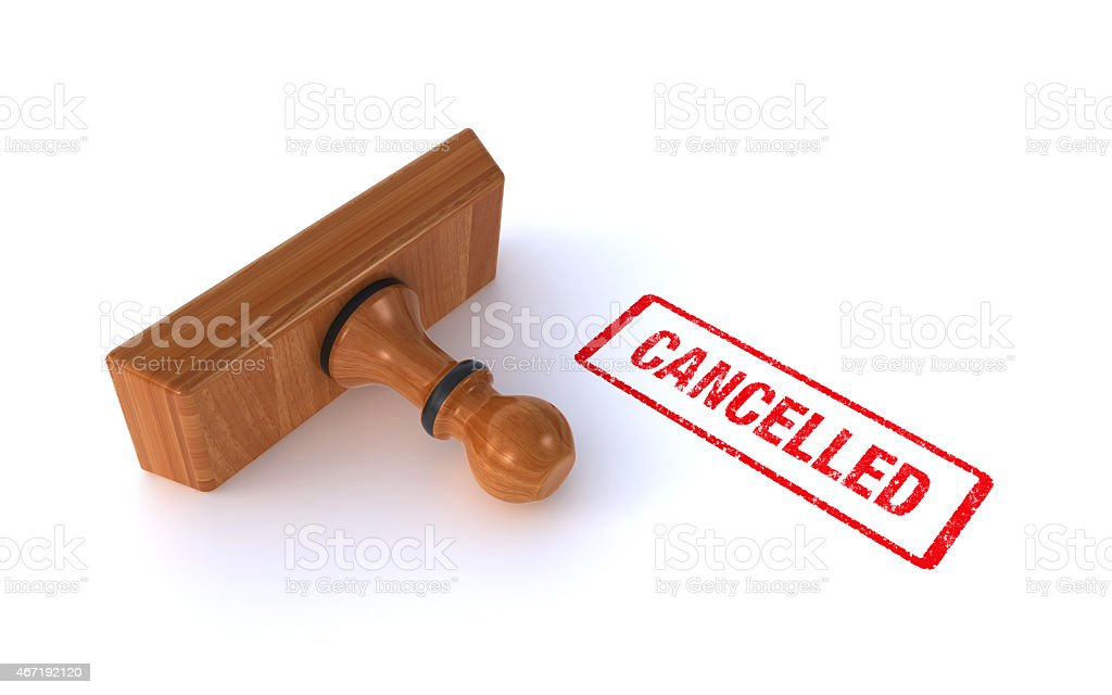 stamp cancelled stock photo