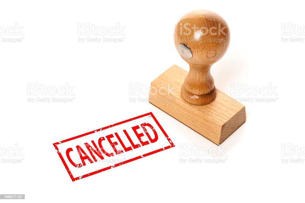 stamp 'Cancelled' stock photo