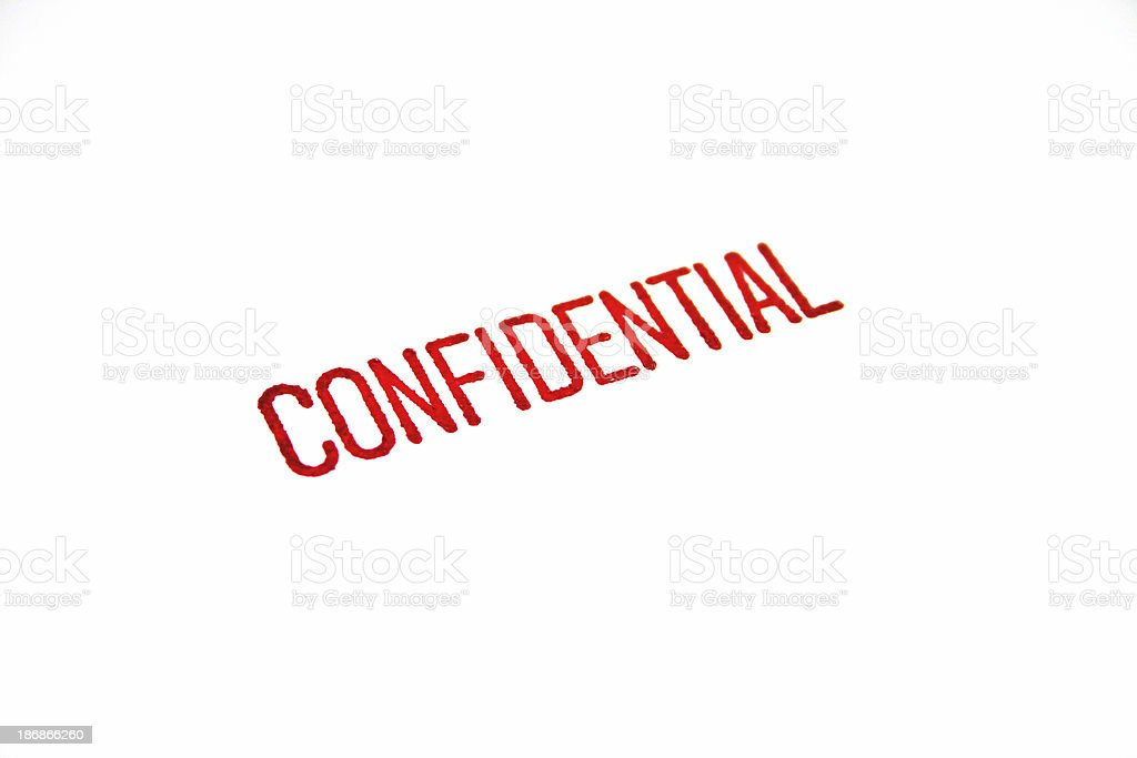 Stamp - Confidential royalty-free stock photo