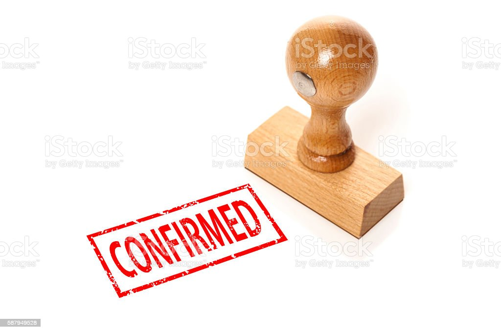 stamp 'Confirmed' stock photo