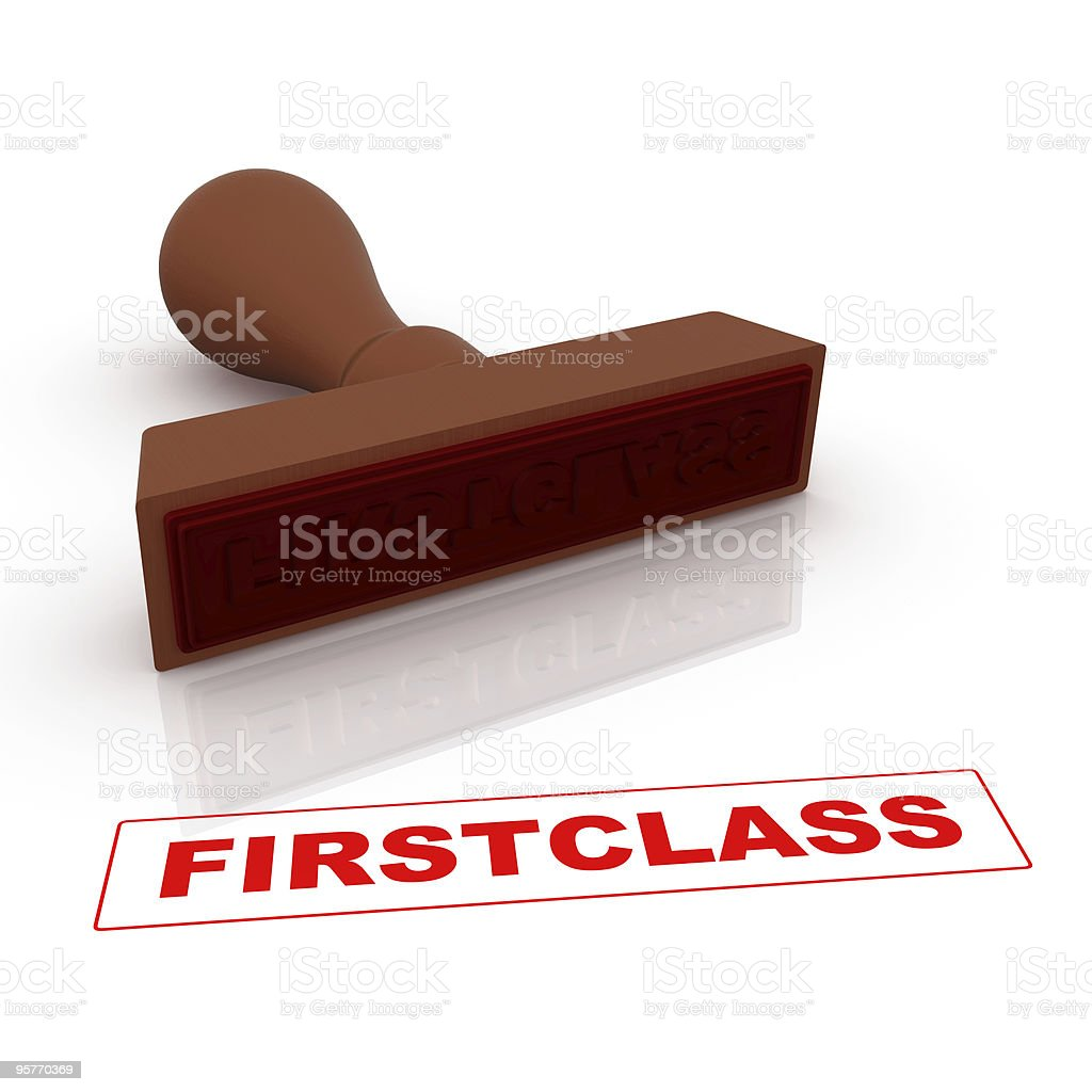 Stamp - Firstclass royalty-free stock photo
