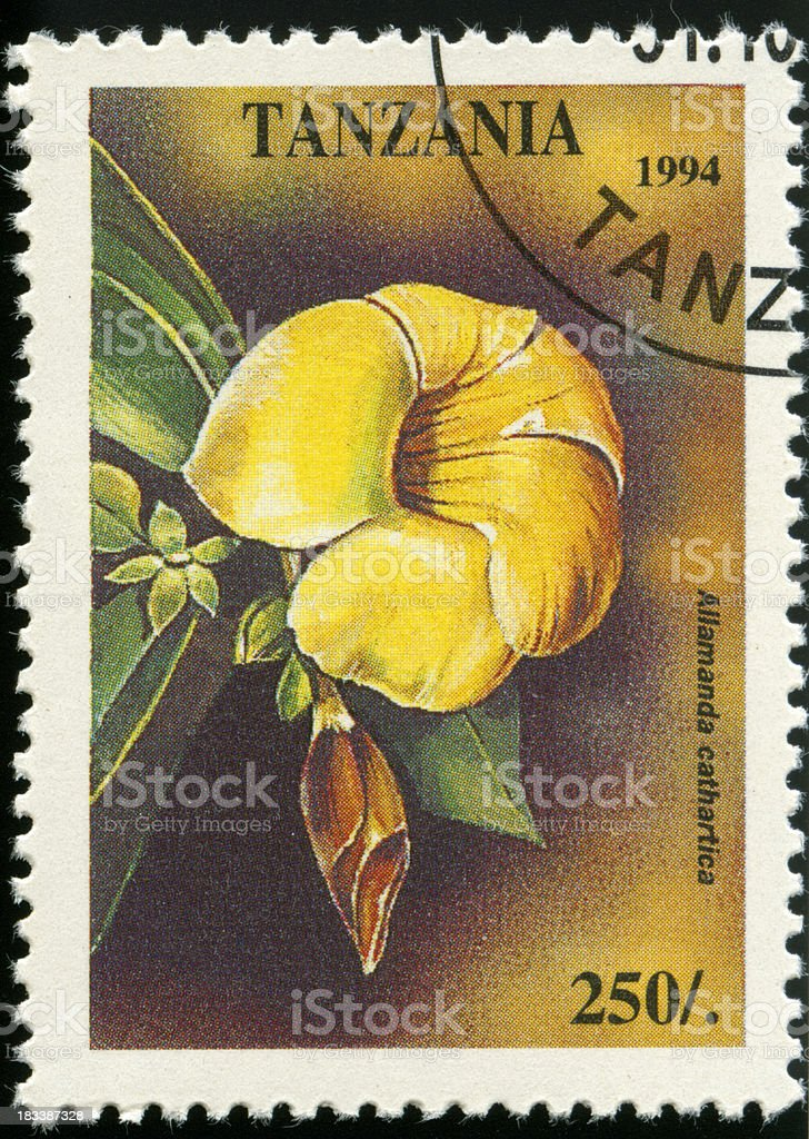 Stamp from Tanzania royalty-free stock photo