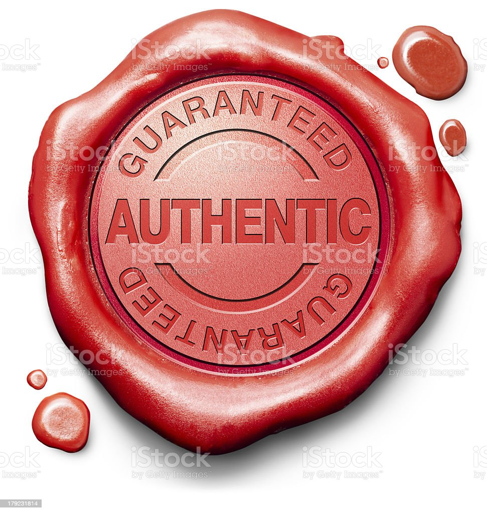 stamp guaranteed authentic royalty-free stock photo