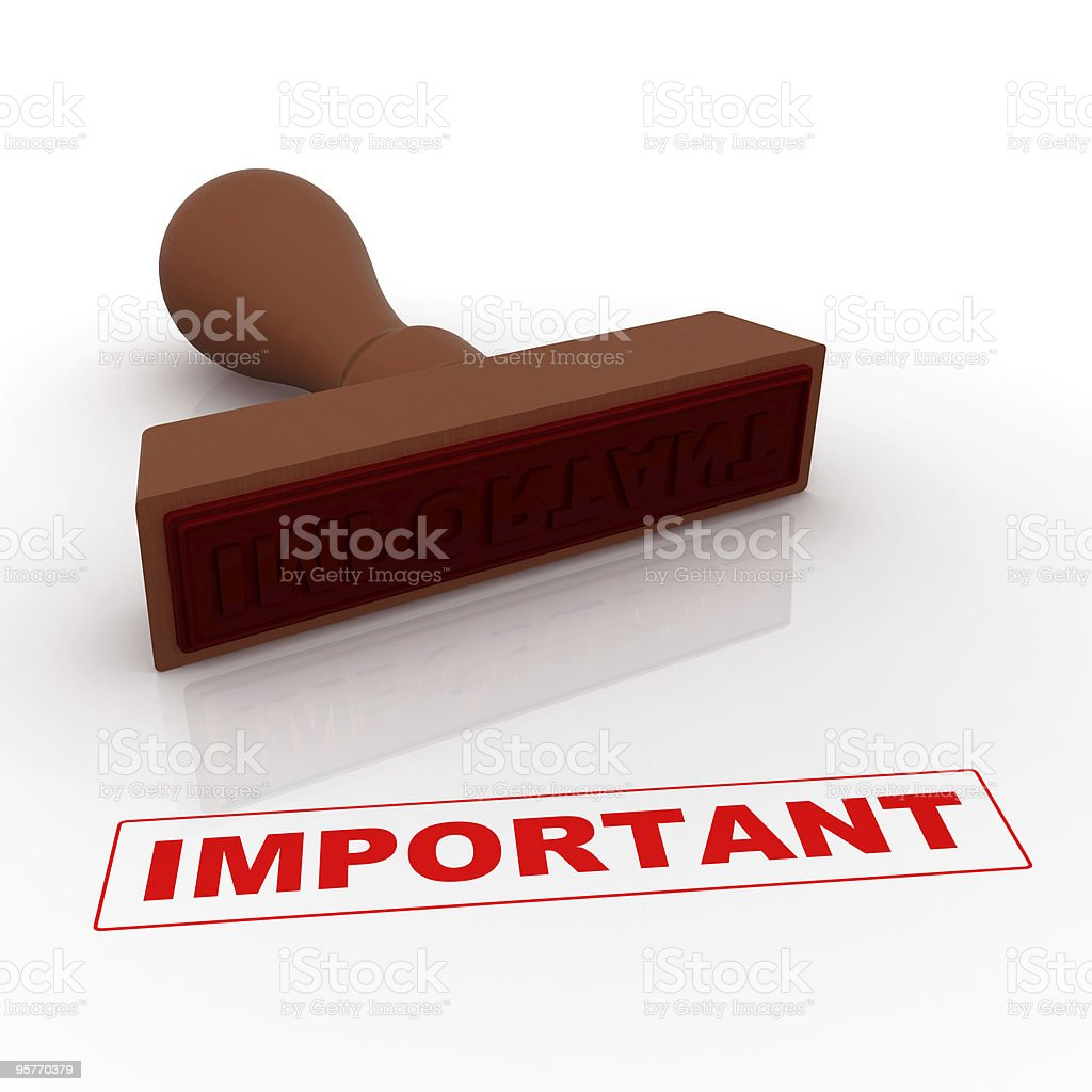Stamp - Important royalty-free stock photo