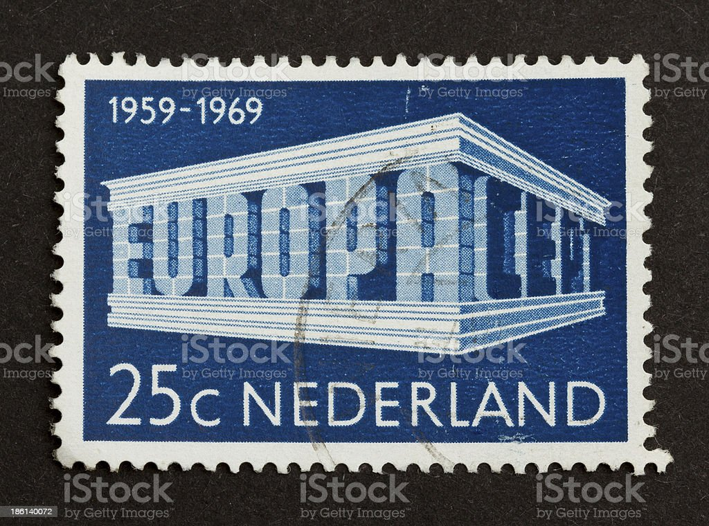 Stamp isolated on black royalty-free stock photo