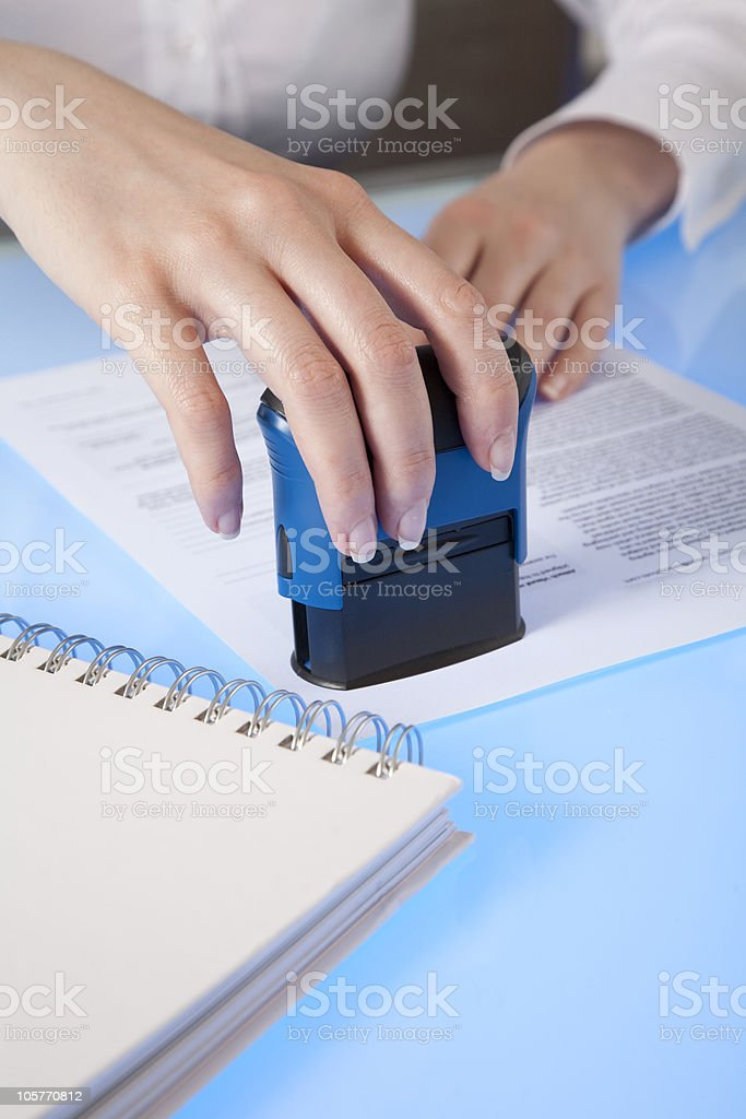 Stamp it royalty-free stock photo
