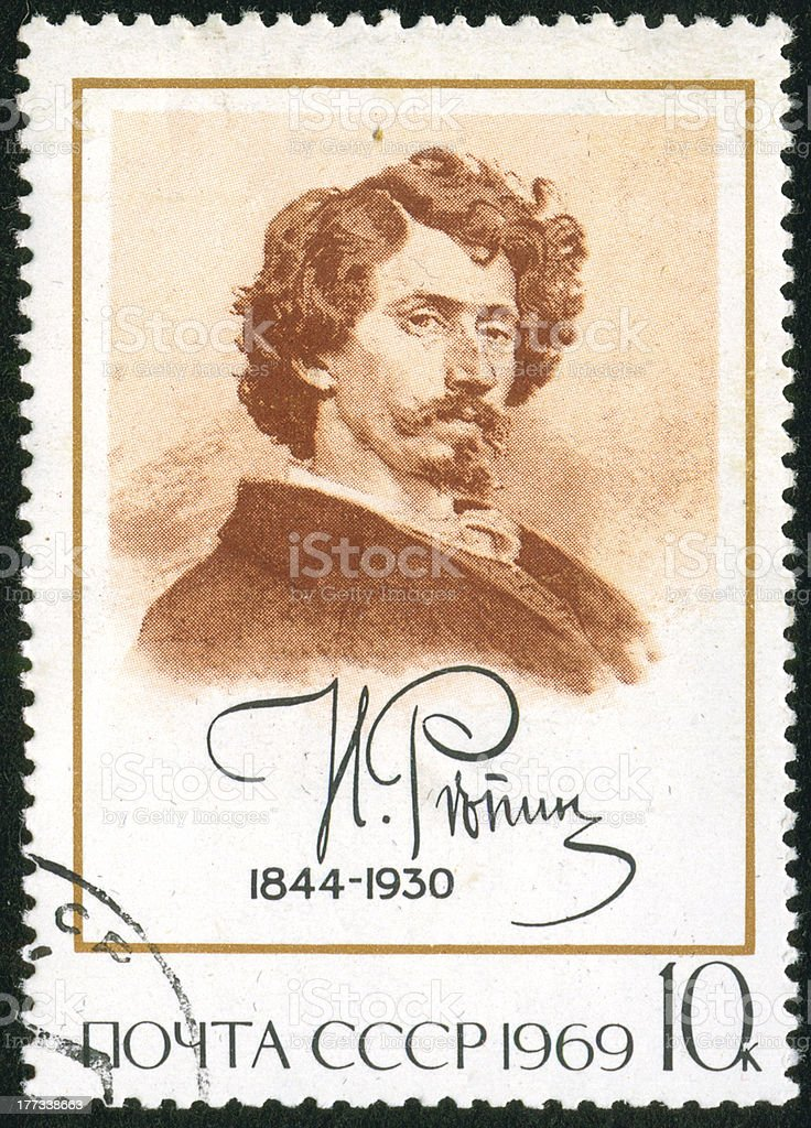 stamp, macro stock photo