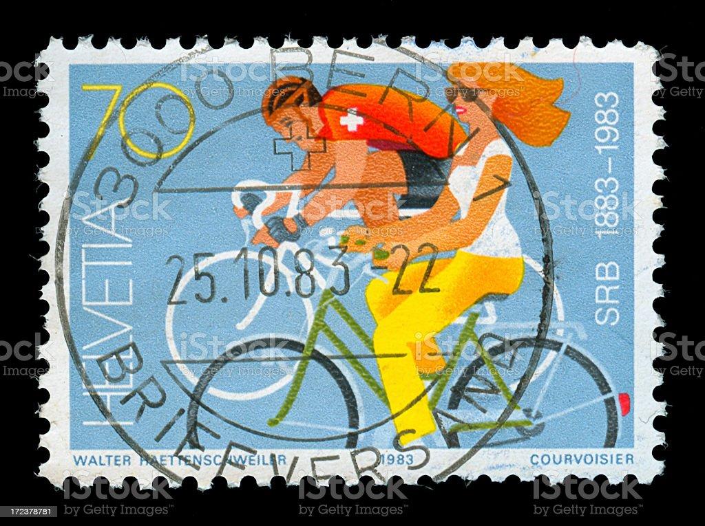 Stamp of Swiss stock photo