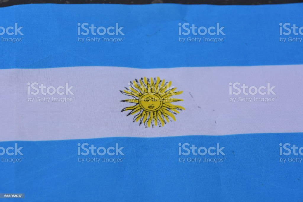 Stamp of the State of Argentina stock photo