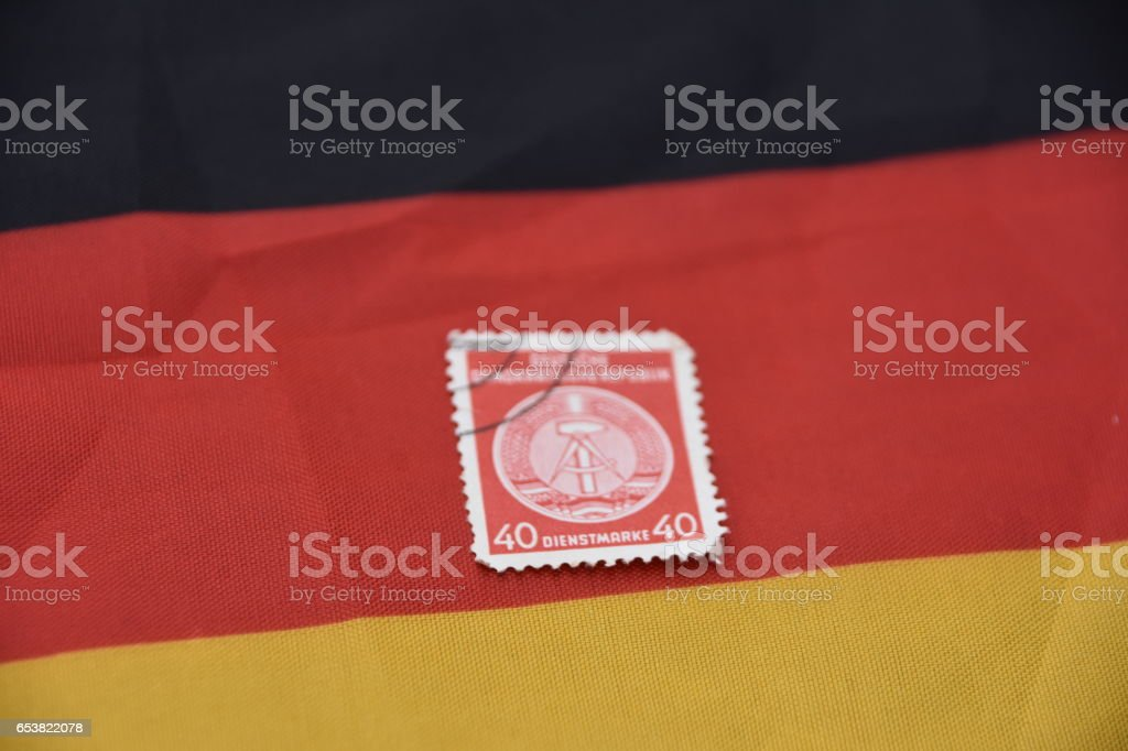 Stamp of the State of GERMANY stock photo