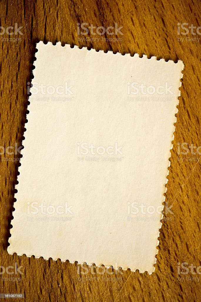 stamp on wooden background royalty-free stock photo