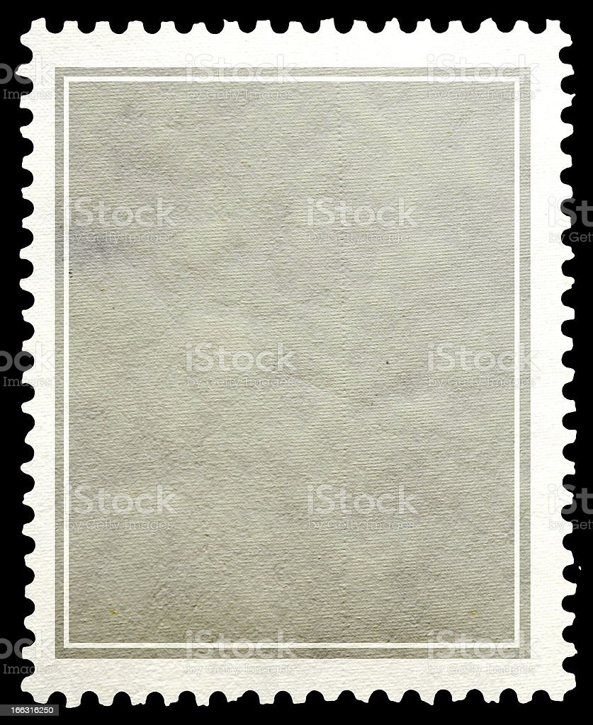 Stamp paper gray background. stock photo