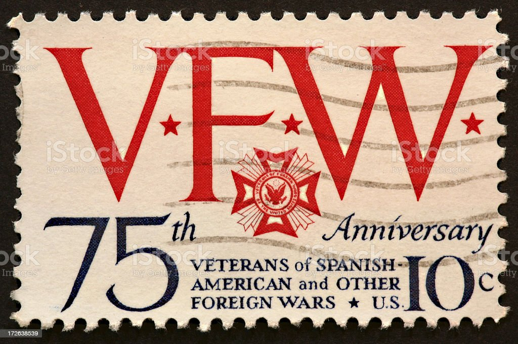 VFW stamp royalty-free stock photo