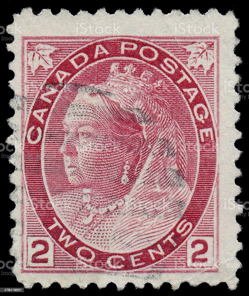 Stamp printed by Canada, shows Queen Victoria royalty-free stock photo