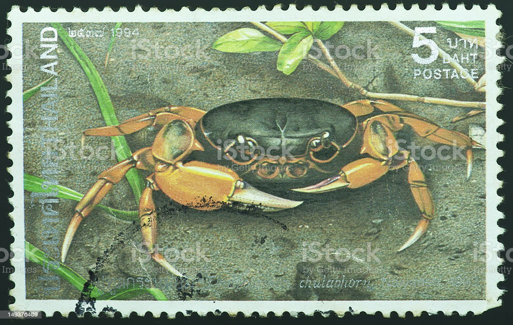 stamp printed by Thailand vector art illustration