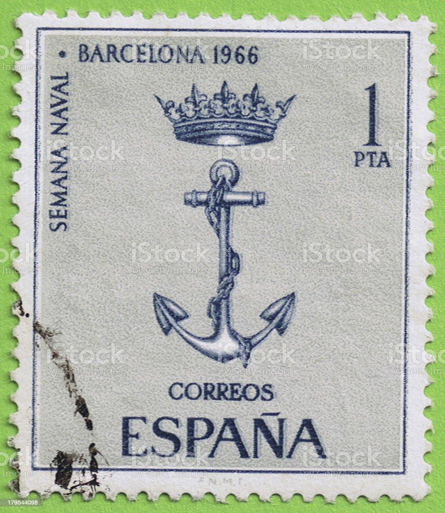 Stamp Spain - Sello de España stock photo
