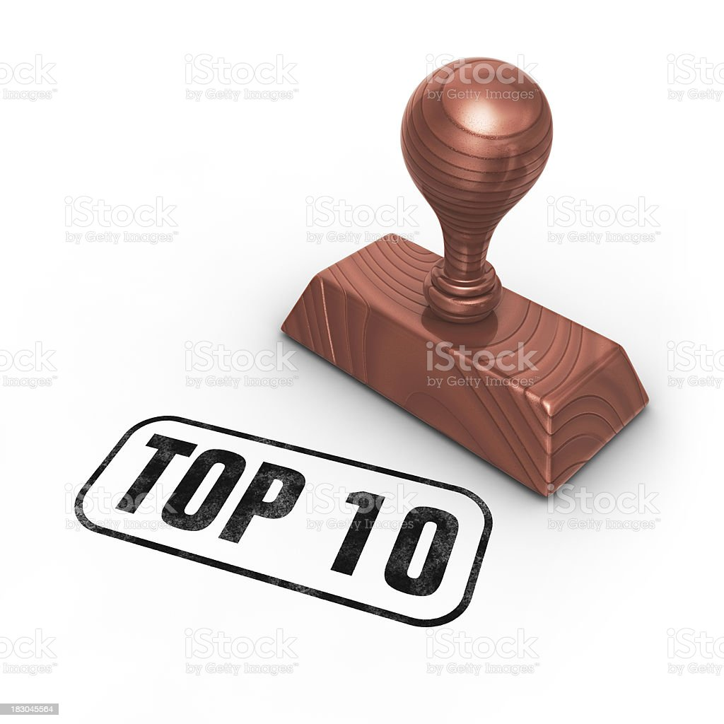 stamp top 10 royalty-free stock photo