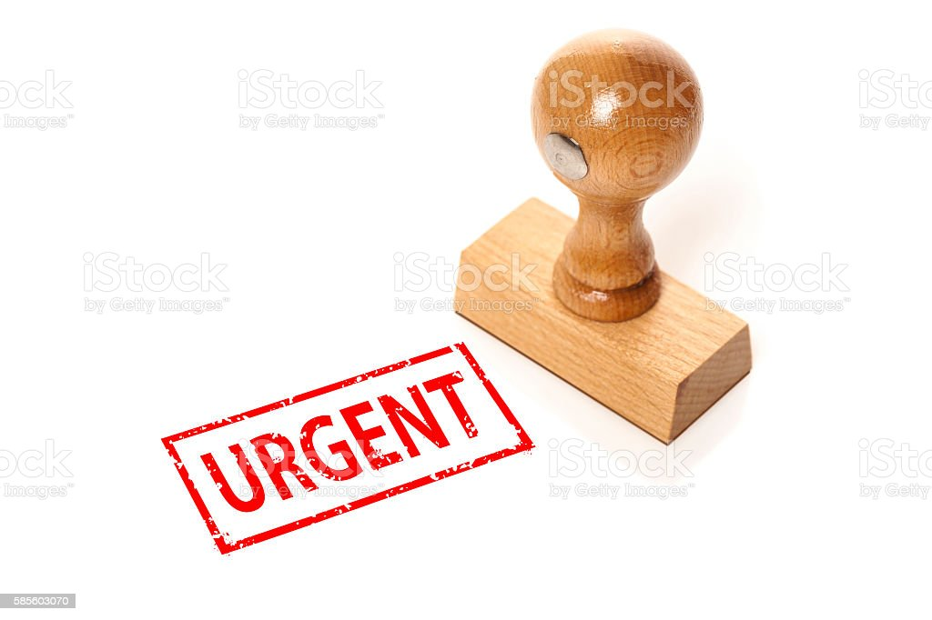 stamp 'Urgent' stock photo