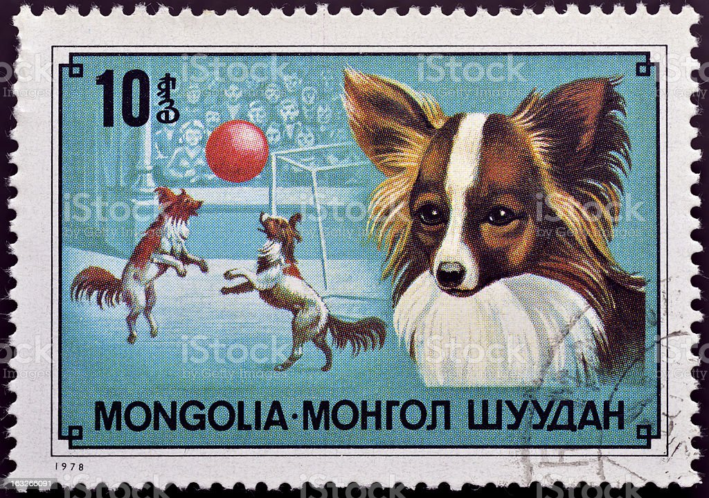 Stamp with circus dog royalty-free stock photo
