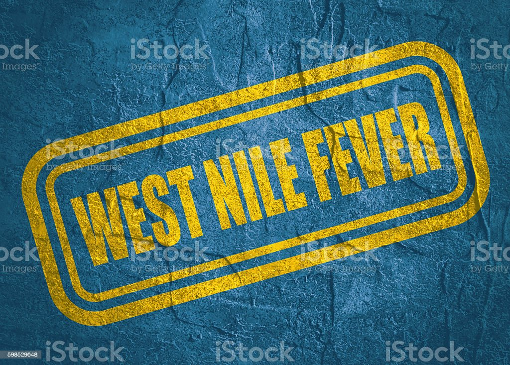 stamp with West Nile Fever text over grunge background stock photo