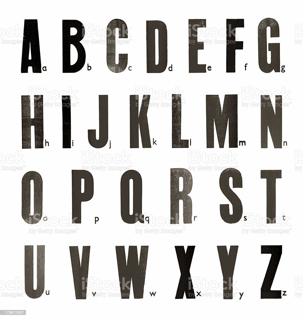 Stamped Alphabet royalty-free stock photo
