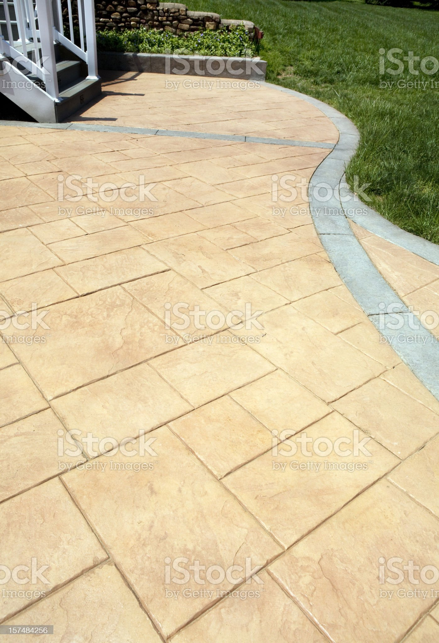 Stamped Concrete Patio royalty-free stock photo