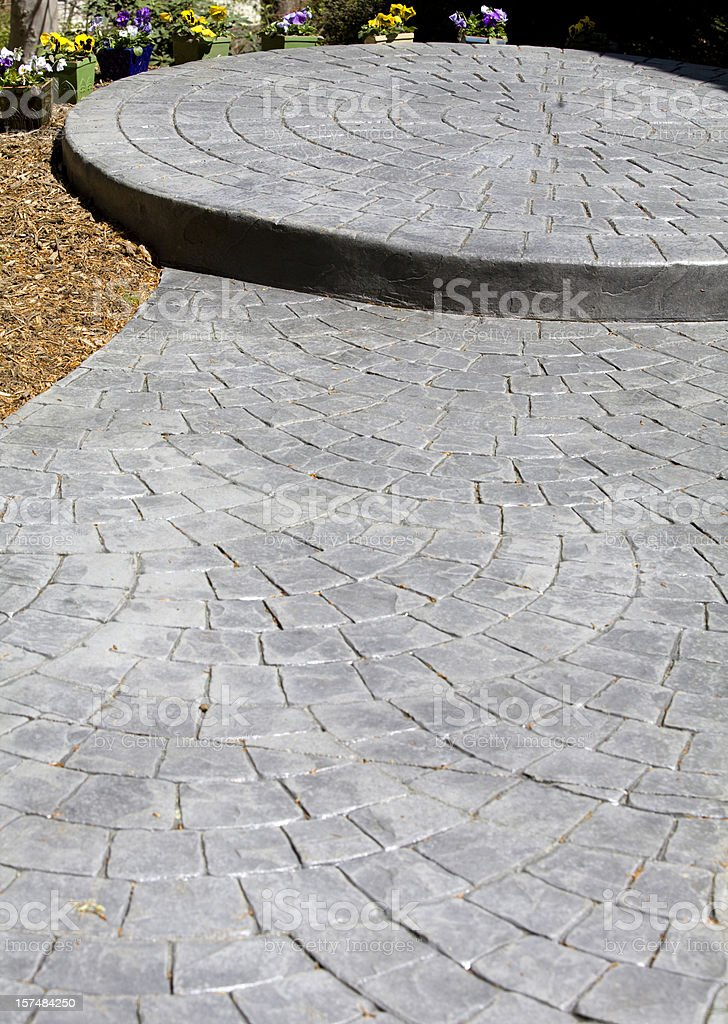 Stamped Concrete Sidewalk royalty-free stock photo